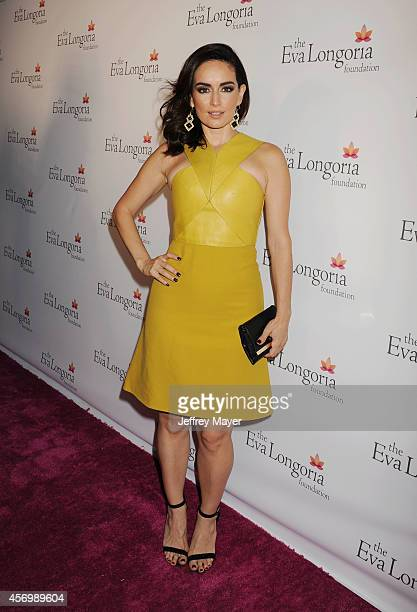Actress Ana De La Reguera attends Eva Longoria's Foundation dinner at Beso on October 9, 2014 in Hollywood, California.