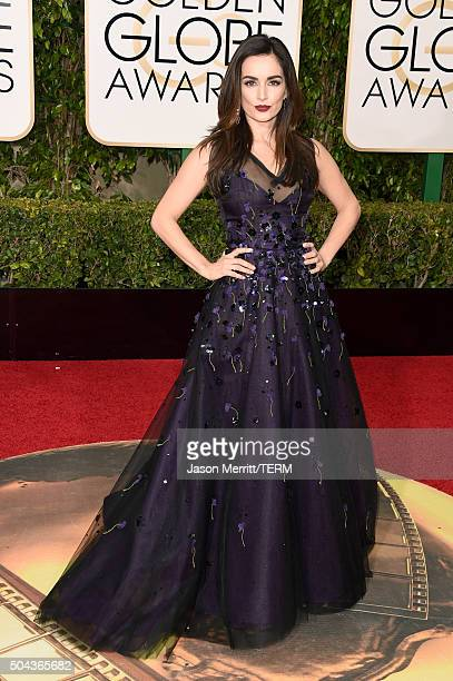Actress Ana de la Reguera attends the 73rd Annual Golden Globe Awards held at the Beverly Hilton Hotel on January 10 2016 in Beverly Hills California