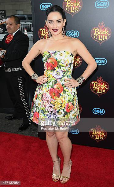 Actress Ana de la Reguera attends the Premiere of Twentieth Century Fox and Reel FX Animation Studois' The Book of Life at the Regal Cinemas LA Live...