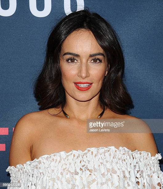 """Actress Ana de la Reguera attends the season 2 premiere of """"Narcos"""" at ArcLight Cinemas on August 24, 2016 in Hollywood, California."""