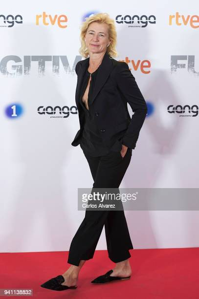 Actress Ana Duato attends 'Fugitiva' Tv Series at the Callao cinema on April 2 2018 in Madrid Spain