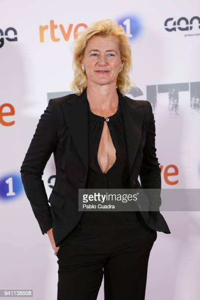 Actress Ana Duato attends the Fugitiva premiere at Callao Cinema on April 2 2018 in Madrid Spain