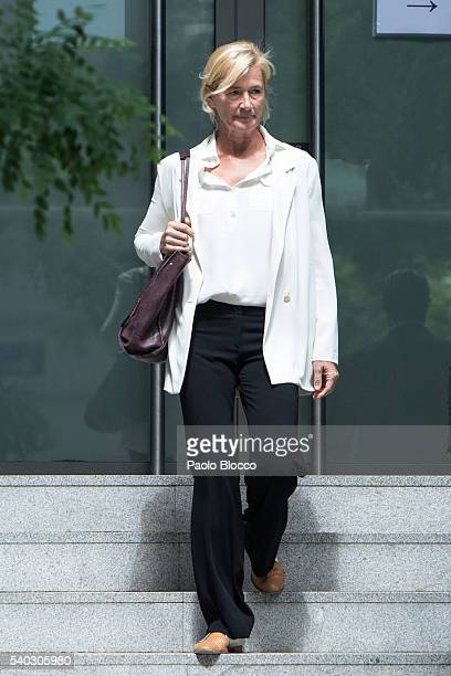 Actress Ana Duato attends the National Court to be questioned over her tax fraud on June 15 2016 in Madrid Spain