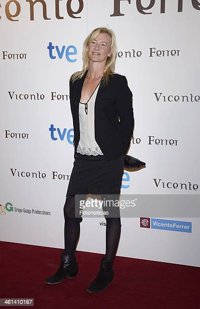 Actress Ana Duato attends 'Vicente Ferrer' Tv Movie presentation at Callao City Lights on January 8 2014 in Madrid Spain