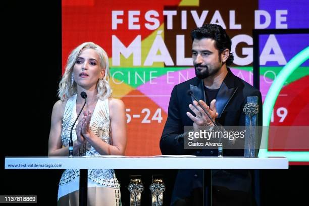 Actress Ana Fernandez and Actor Velazquez attend the Malaga Film Festival 2019 closing day gala at Cervantes Theater on March 23 2019 in Malaga Spain