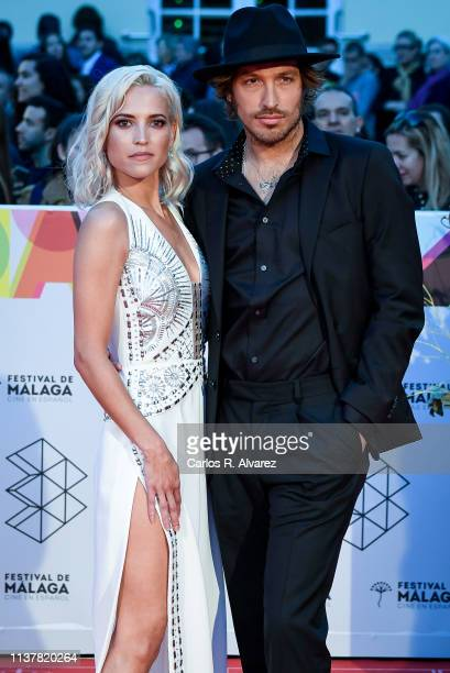 Actress Ana Fernandez and Adrian Roma attend the Malaga Film Festival 2019 closing day gala at Cervantes Theater on March 23 2019 in Malaga Spain