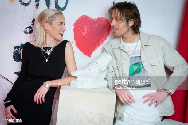 Actress Ana Fernandez and singer Adrian Roma present Por Arte Al Amor collection by Unode50 on January 31 2019 in Madrid Spain