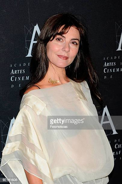 Actress Ana Fernandez arrives at the Spanish Cinema Academy Gold Medal Award 2009 ceremony at Reina Sofia museum on October 21 2009 in Madrid Spain