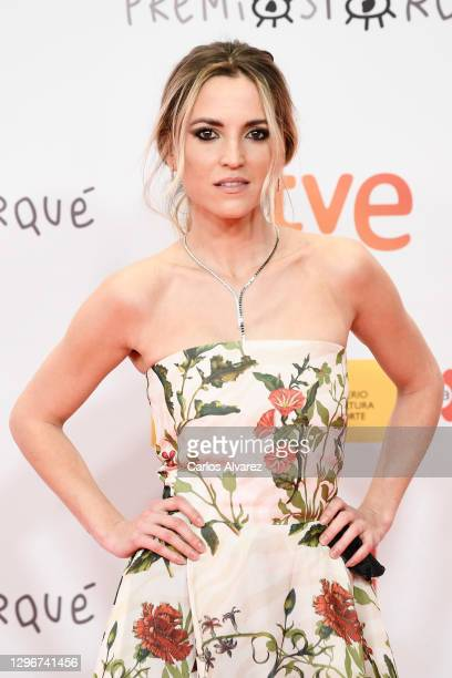 Actress Ana Fernandez attends 'Jose Maria Forque Awards' 2021 red carpet at IFEMA on January 16, 2021 in Madrid, Spain.