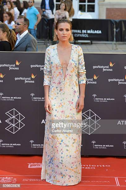 Actress Ana Fernandez attends Nuestros Amantes premiere at the Cervantes Teather during the 19th Malaga Film Festival on April 30 2016 in Malaga Spain