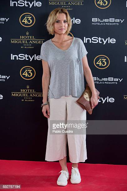 Actress Ana Fernandez attends the 'Live in Colors' photocall during the InStyle Beauty Day at the Miguel Angel Hotel Garden on May 19 2016 in Madrid...