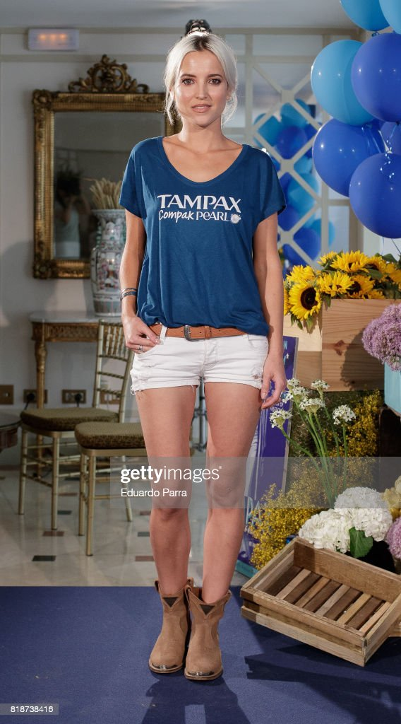 Actress Ana Fernandez attends the 'Tampax 80th anniversary' photocall at Orfila hotel on July 19, 2017 in Madrid, Spain.