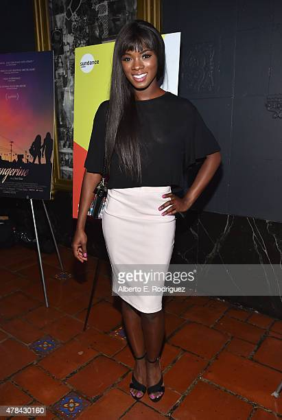 Actress Ana Foxx attends an advanced screening of Magnolia Pictures' 'Tangerine' sponsored by Sundance NEXT FEST Outfest and The Ace Hotel Downtown...