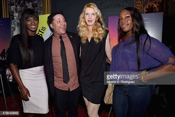 Actress Ana Foxx writer Chris Bergoch actress Mickey O'Hagan and actress Genesis Green attend an advanced screening of Magnolia Pictures' 'Tangerine'...