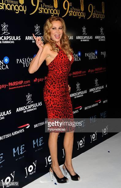Actress Ana Garcia Obregon attends 'Shangay Awards 2009' at Pacha Club on November 30 2009 in Madrid Spain