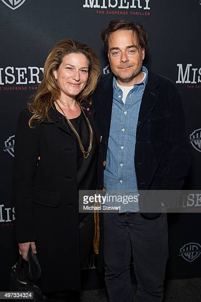"""Actress Ana Gasteyer and Charlie McKittrick attend """"Misery"""" Broadway opening night at The Broadhurst Theatre on November 15, 2015 in New York City."""