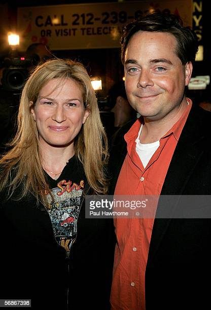 """Actress Ana Gasteyer and her husband Charlie McKittrick arrives for the play opening night of """"Barefoot In the Park"""" at Cort Theatre February 16,..."""
