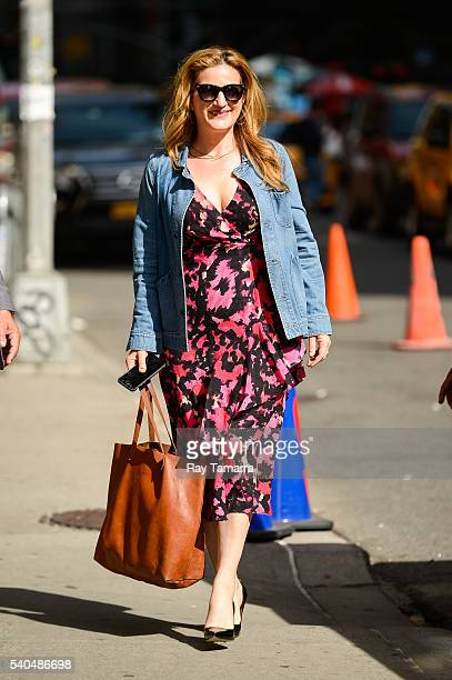 Actress Ana Gasteyer enters 'The Late Show With Stephen Colbert' taping at the Ed Sullivan Theater on June 15 2016 in New York City