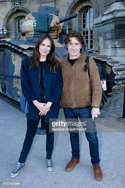 Actress Ana Girardot and Actor playing the role of Jean Moulin Thierry Fremont attend the 'Ami entends tu ' Show performed at The Invalides on May 8...
