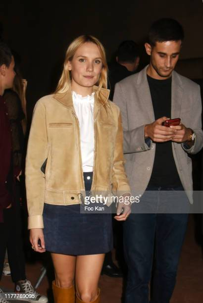 Actress Ana Girardot and guest attend the Hermes Womenswear Spring/Summer 2020 show as part of Paris Fashion Week on September 28 2019 in Paris France