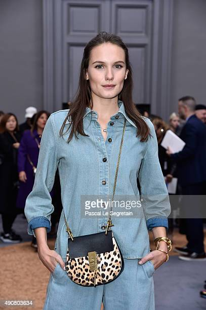 Actress Ana Girardot attends the Chloe show as part of the Paris Fashion Week Womenswear Spring/Summer 2016 on October 1 2015 in Paris France