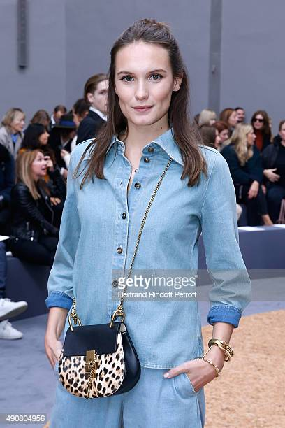 Actress Ana Girardot attends the Chloe show as part of the Paris Fashion Week Womenswear Spring/Summer 2016 Held at Grand Palais on October 1 2015 in...