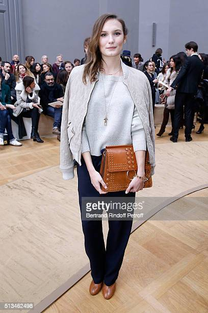 Actress Ana Girardot attends the Chloe show as part of the Paris Fashion Week Womenswear Fall/Winter 2016/2017 Held at Grand Palais on March 3 2016...