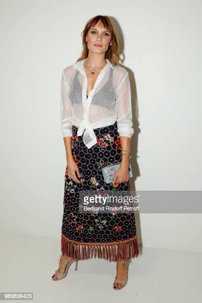 Actress Ana Girardot attends the Christian Dior Haute Couture Fall Winter 2018/2019 show as part of Paris Fashion Week on July 2 2018 in Paris France