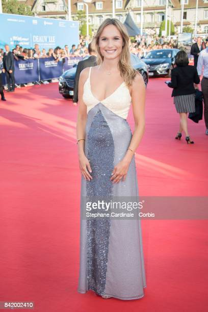 Actress Ana Girardot attends the Tribute to Robert Pattinson and 'Good Time' Premiere during the 43rd Deauville American Film Festival on September 2...