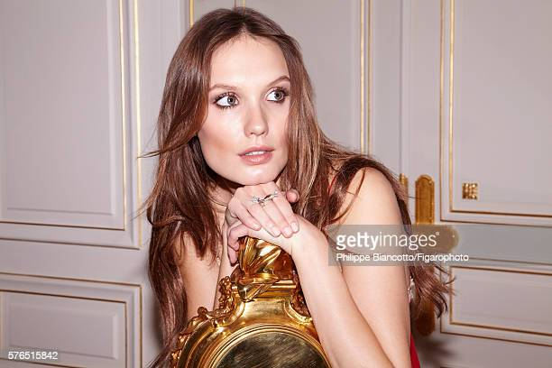 Actress Ana Girardot is photographed for Madame Figaro on June 2 2016 at the newly renovated Ritz Hotel in Paris France Dress Comère Spiral necklace...