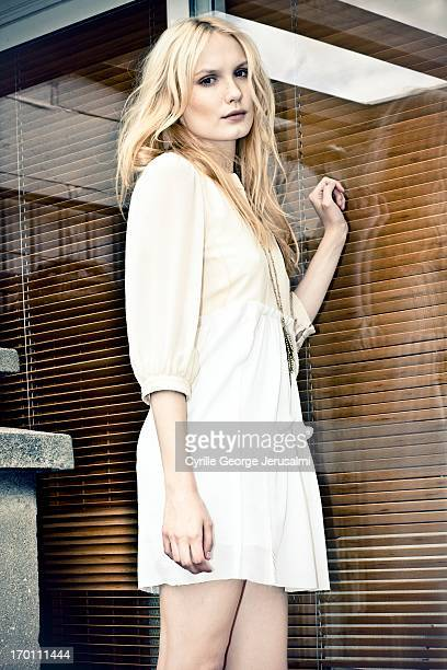 Actress Ana Girardot is photographed for Self Assignment on March 1 2012 in Paris France