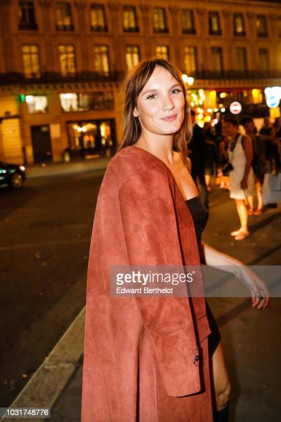 Actress Ana Girardot is seen outside the Longchamp 70th Anniversary Celebration at Opera Garnier on September 11 2018 in Paris France