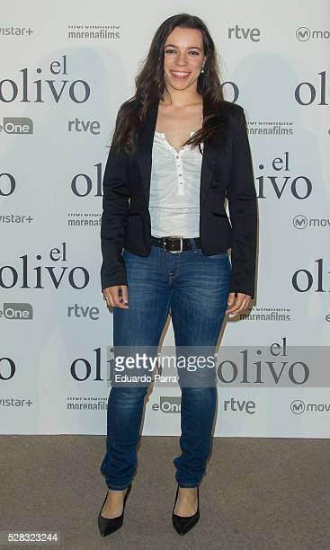 Actress Ana Isabel Mena attends 'El olivo' premiere at Capitol cinema on May 04, 2016 in Madrid, Spain.