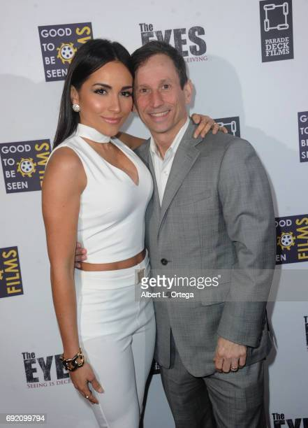 Actress Ana Isabelle and director Robbie Bryan arrive for the Premiere Of Parade Deck Films' 'The Eyes' held at Arena Cinelounge on April 7 2017 in...