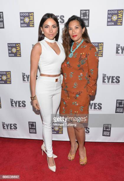 Actress Ana Isabelle and Emelie Rodelas attend the premiere of Parade Deck Films' 'The Eyes' at Arena Cinelounge on April 7 2017 in Hollywood...