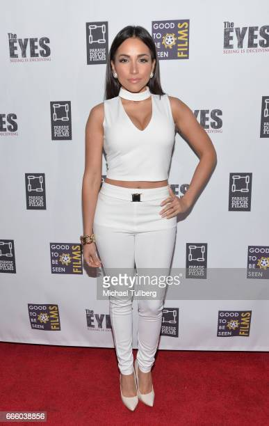 Actress Ana Isabelle attends the premiere of Parade Deck Films' 'The Eyes' at Arena Cinelounge on April 7 2017 in Hollywood California