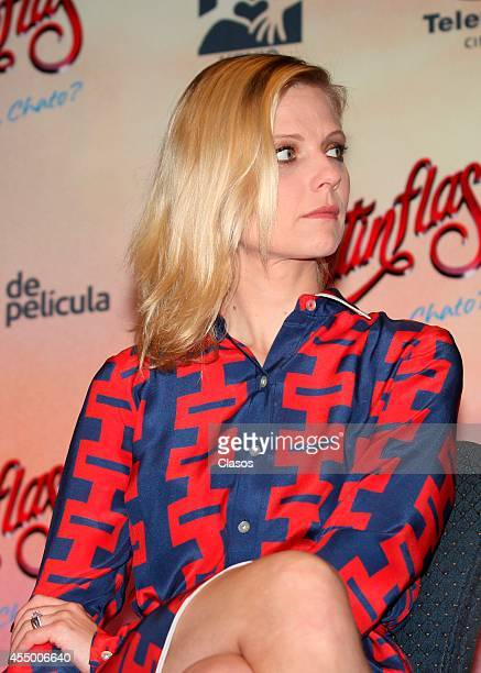 Actress Ana Layevska attends a press conference to present Mexican movie 'Cantinflas' at Presidente Hotel on September 08 2014 in Mexico City Mexico