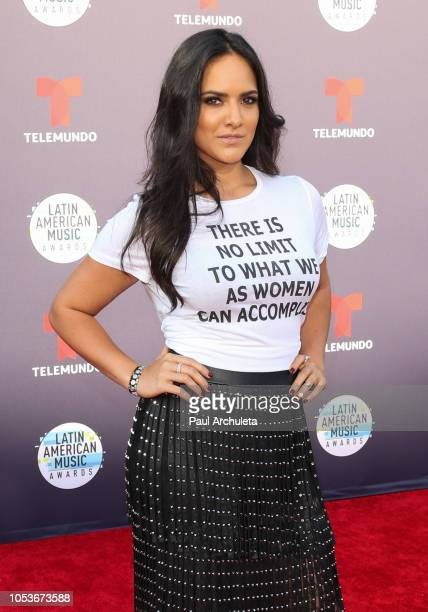 Actress Ana Lorena Sanchez attends the 2018 Latin American Music Awards at Dolby Theatre on October 25 2018 in Hollywood California