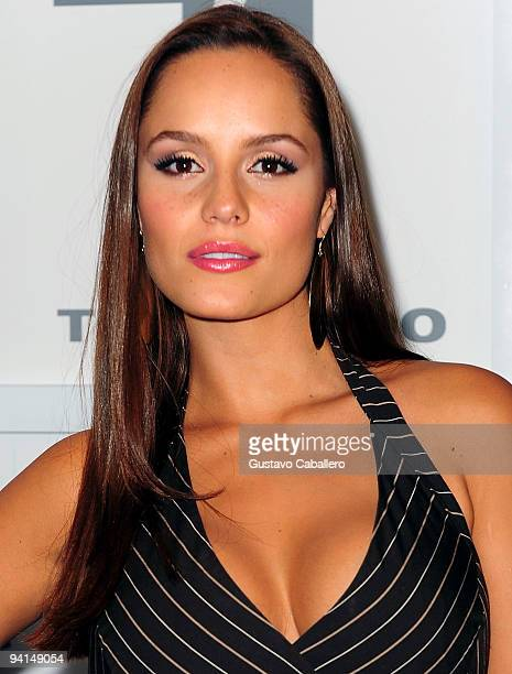 Actress Ana Lucia Dominguez attends Telemundo's Perro Amor launch party at W Hotel on December 7 2009 in Miami Beach Florida