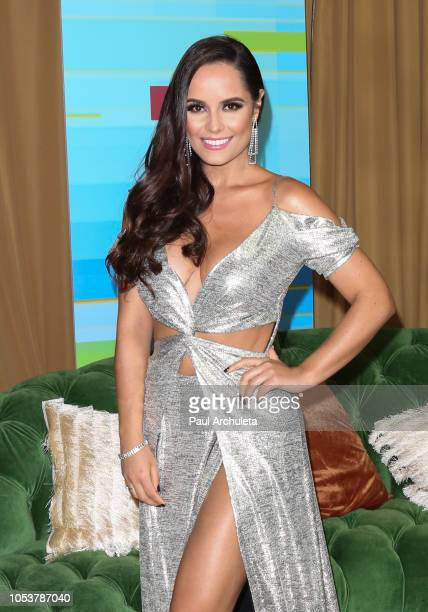 Actress Ana Lucia Dominguez poses in the press room at the 2018 Latin American Music Awards at Dolby Theatre on October 25 2018 in Hollywood...