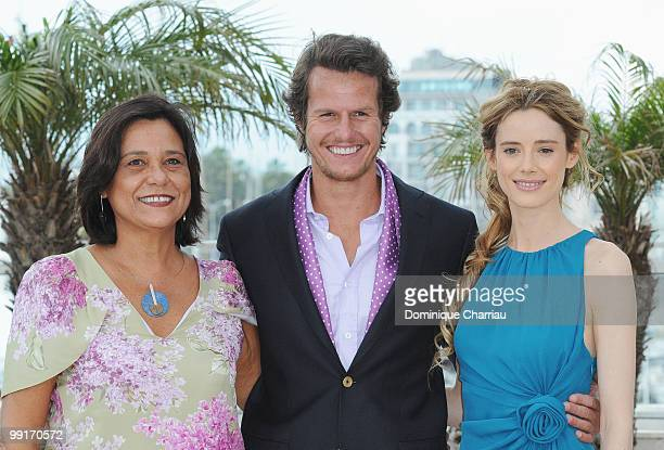 Actress Ana Maria Magalhaes Actor Ricardo Trepa and Actress Pilar Lopez attend 'The Strange Case Of Angelica' Photocall held at the Palais Des...