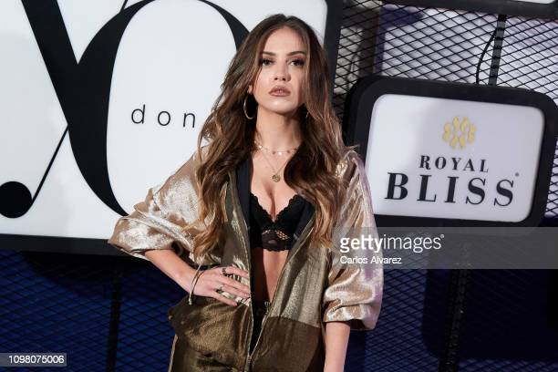 Actress Ana Mena attends 'Yo Dona' Mercedes Benz Fashion Week Madrid Autumn/Winter 201920 party at the Only You Hotel on January 22 2019 in Madrid...