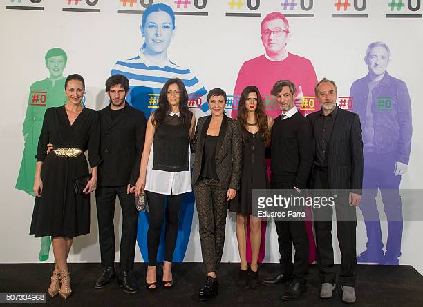 Actress Ana Milan actor Quim Gutierrez actress Ana Fernandez Eva Hache actress Clara Lago actor Ernesto Alterio and actor Gonzalo de Castro attend...