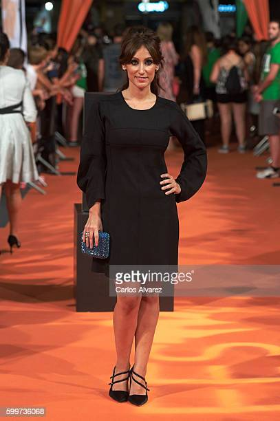 Actress Ana Morgade attends Olmos y Robles premiere at the Principal Theater during FesTVal 2016 Day 2 Televison Festival on September 6 2016 in...