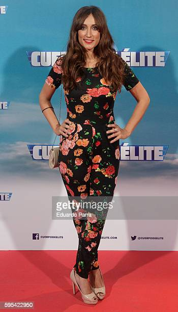 Actress Ana Morgade attends the 'Cuerpo de Elite' premiere at Capitol cinema on August 25 2016 in Madrid Spain