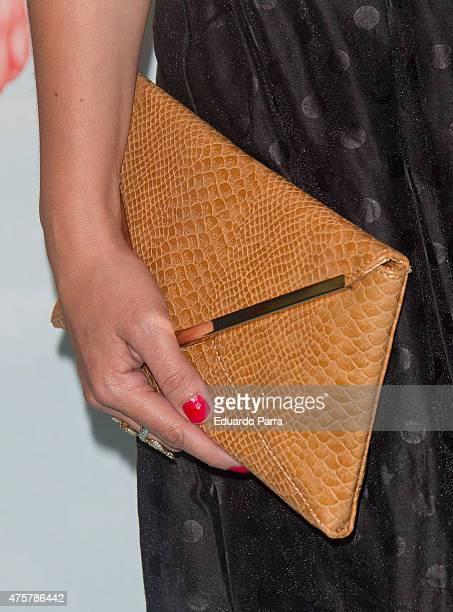 Actress Ana Morgade bag detail attends 'Requisitos para ser una persona normal' premiere at Palafox cinema on June 3 2015 in Madrid Spain