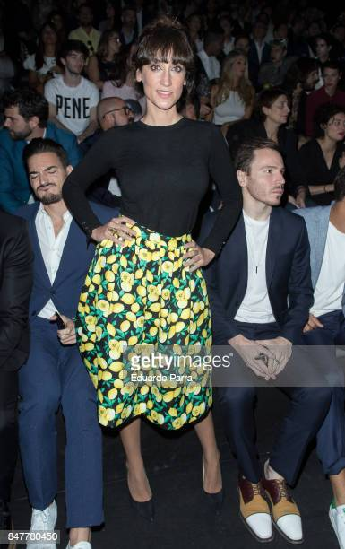 Actress Ana Morgade is seen at the Garcia Madrid show during MercedesBenz Fashion Week Madrid Spring/Summer 2018 at Ifema on September 15 2017 in...