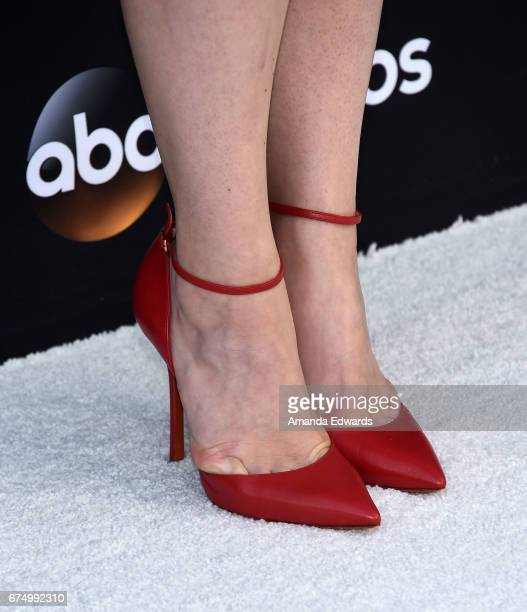 Actress Ana Mulvoy Ten shoe detail arrives at the FYC Event for ABC's American Crime at the Saban Media Center on April 29 2017 in North Hollywood...