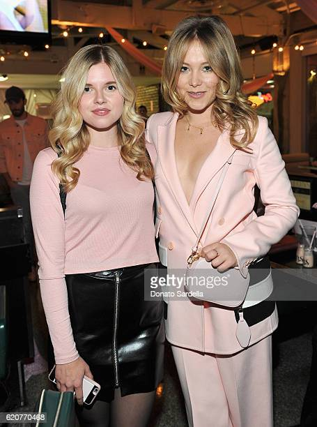 Actress Ana MulvoyTen and entrepreneur Poppy Elizabeth Jamie attend Poppy Jamie Suki Waterhouse Leo Seigal and Cade Hudson celebration of the launch...