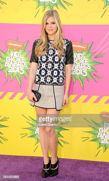 Actress Ana MulvoyTen arrives at Nickelodeon's 26th Annual Kids' Choice Awards at USC Galen Center on March 23 2013 in Los Angeles California